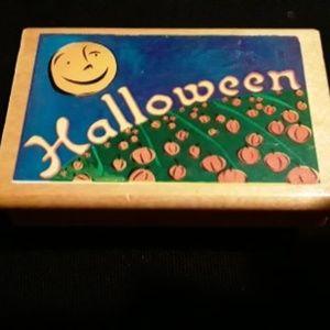 Wooden Halloween Stamp New